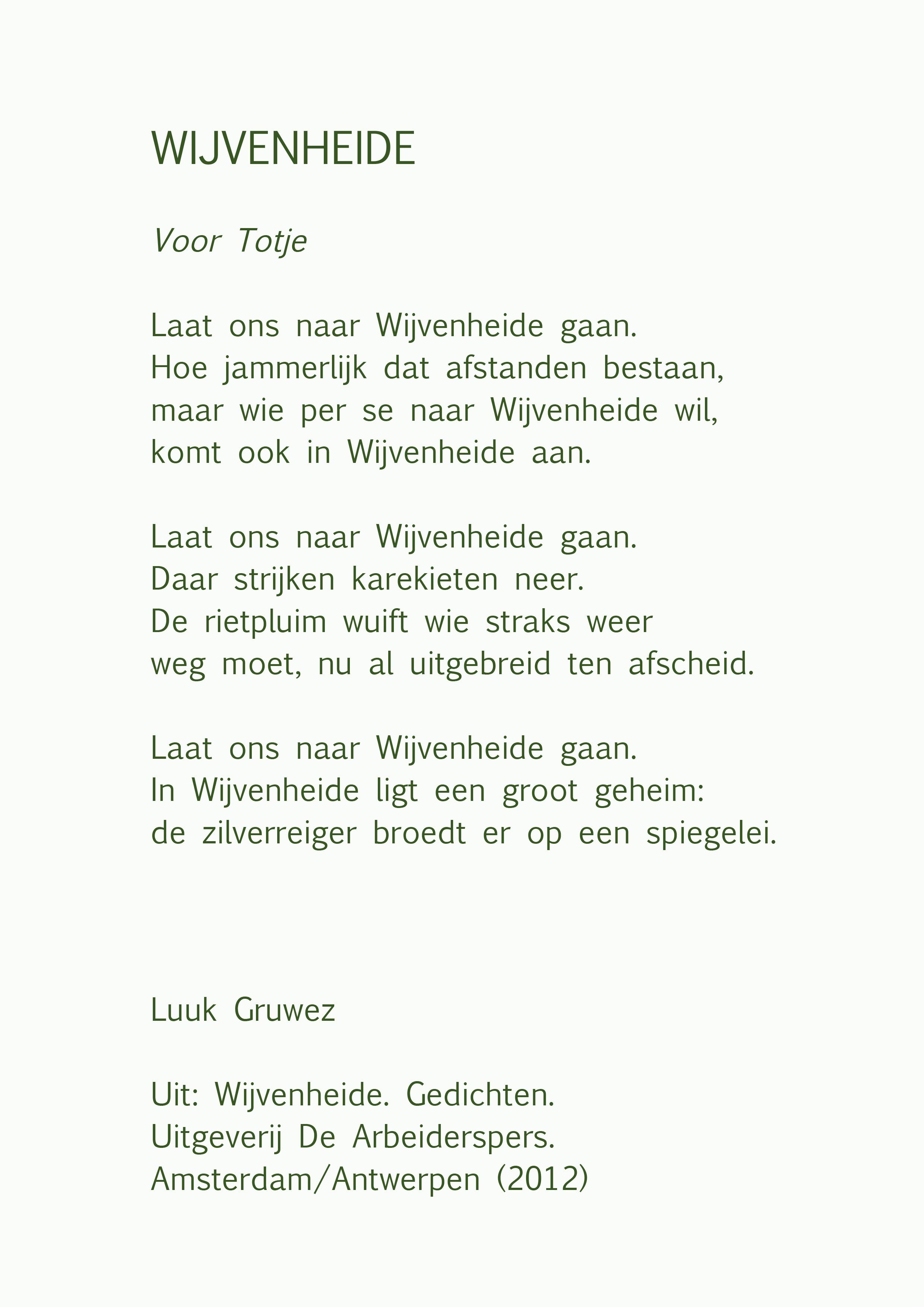 Genoeg Poëzie-Bankje' gedicht van de week @SR07