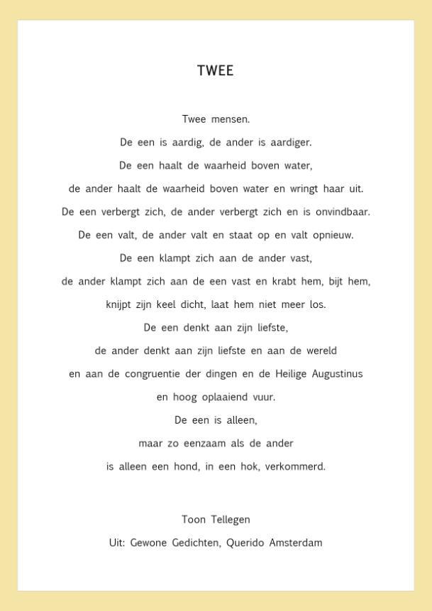 poëzie-bankje' gedicht van de week