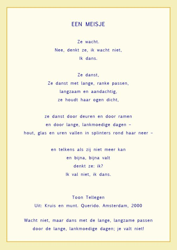 'poëzie-bankje' gedicht van de week