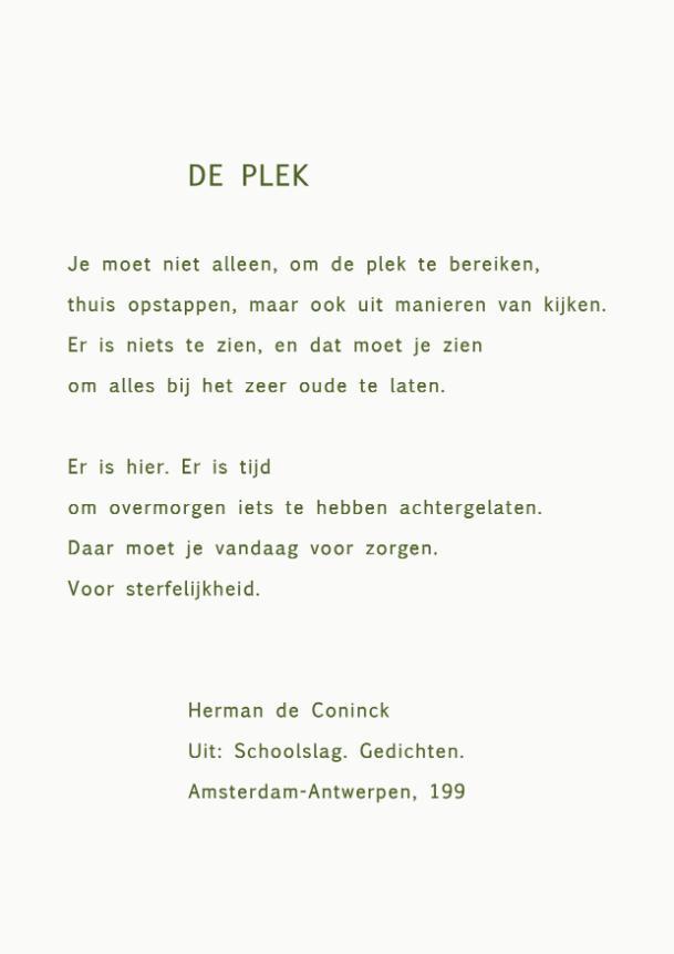 Poëzie Bankje Gedicht Van De Week